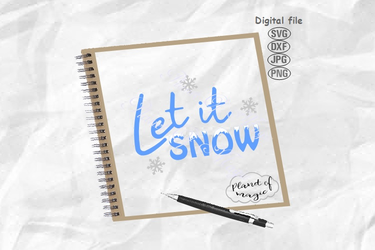 Let It Snow Svg, Winter Svg, Christmas Svg, Snow Svg example image 1