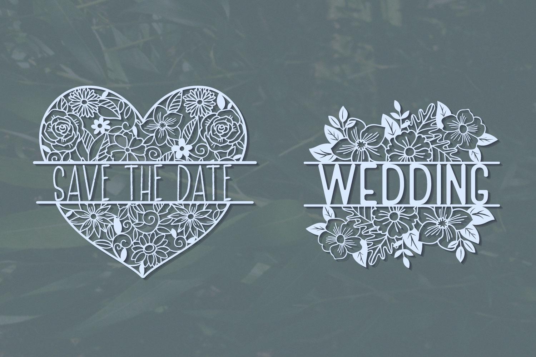 Love Floral Papercut Bundle- 14 SVG cut files example image 5