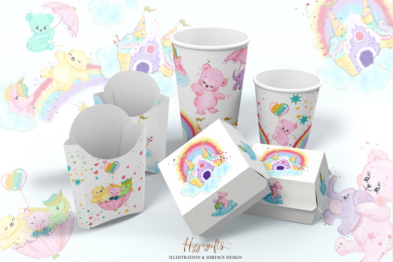 Bears and unicorns clip art example image 9