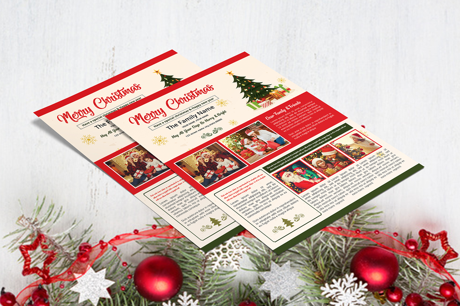Christmas Newsletter Template example image 5