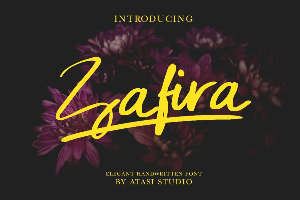 Zafira Handwritten Font example image 1