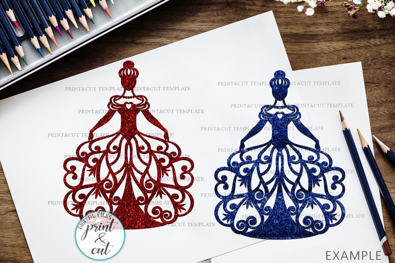 Wedding Princess Bride Bundle cut out svg dxf templates example image 7