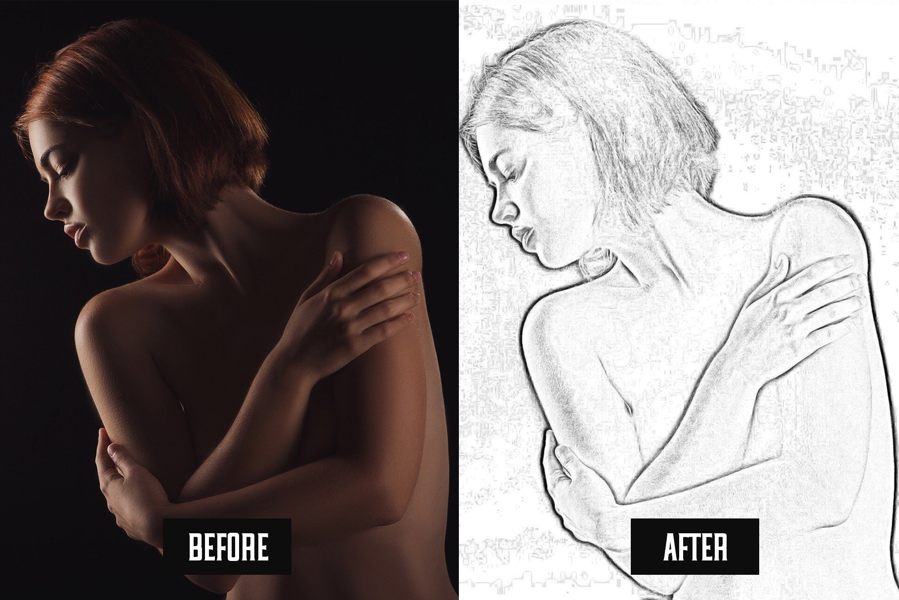 Easy Pencil Effect for Photoshop example image 2