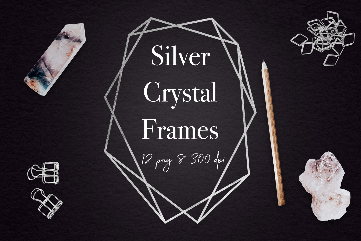 Silver Geometric Frames example image 1