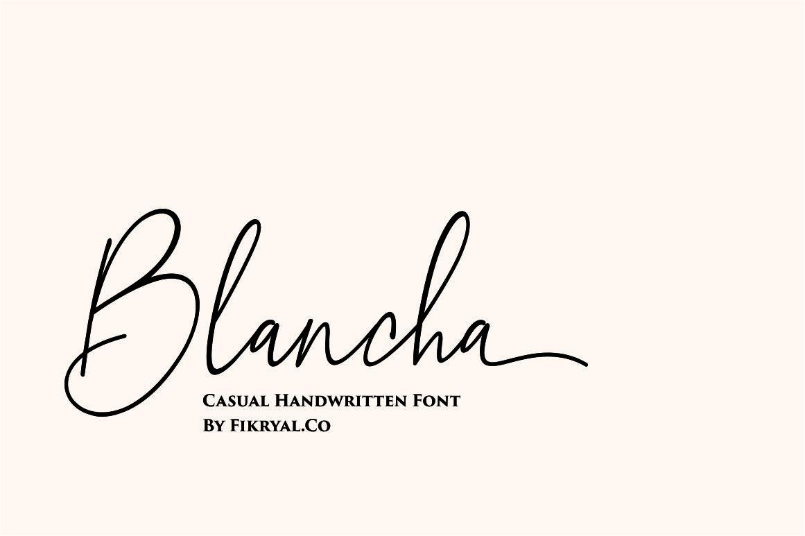 Blancha - Handwritten Font example image 1