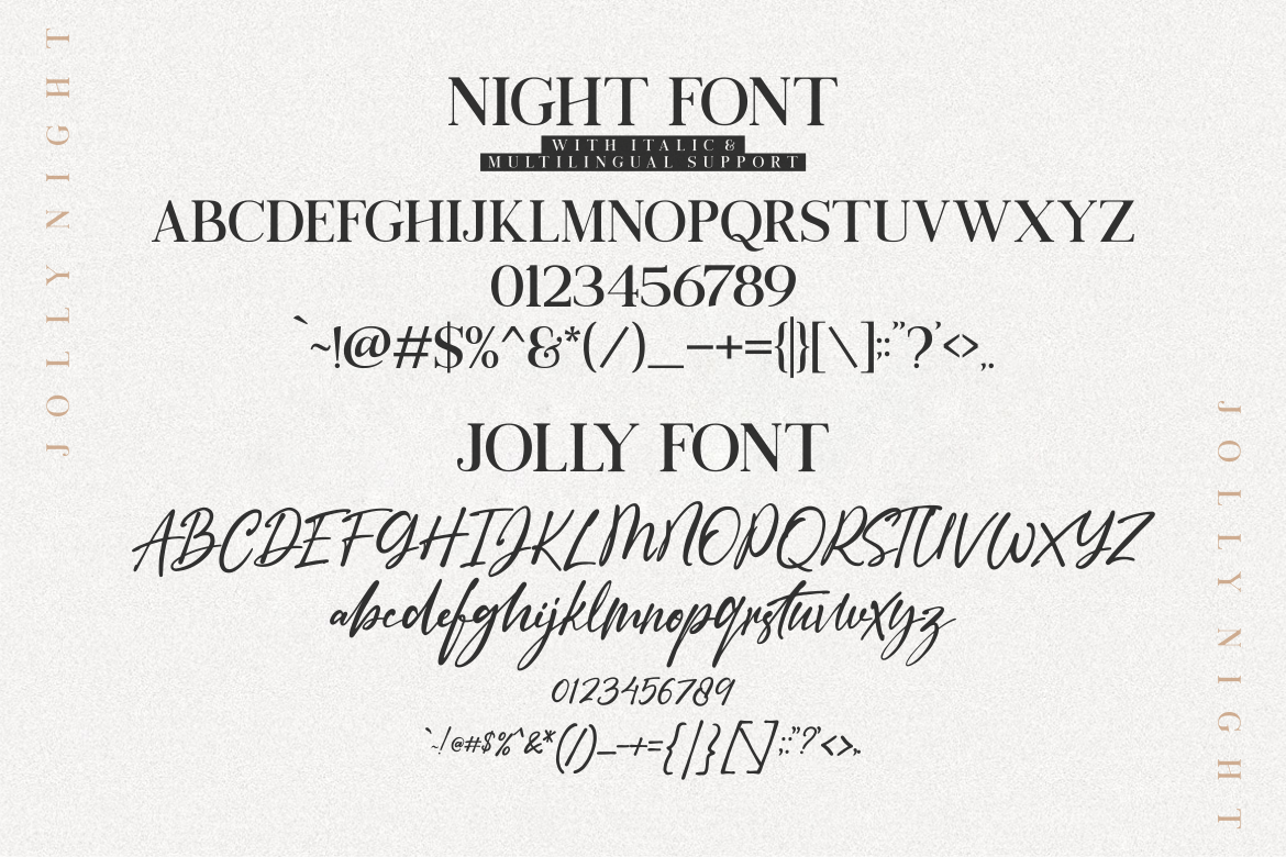 Jolly Night Font Duo example image 6