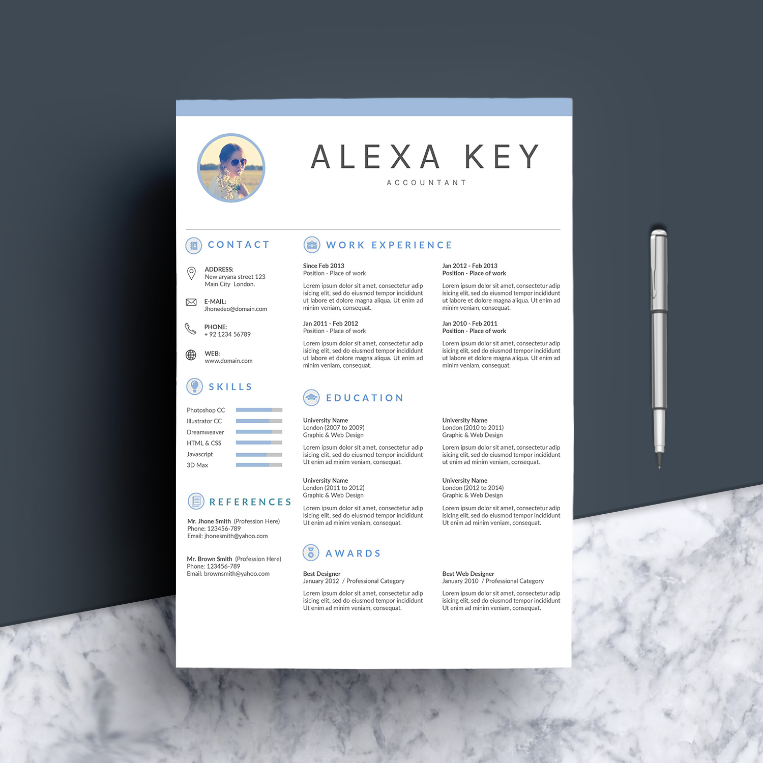 Professional Resume Template example image 2