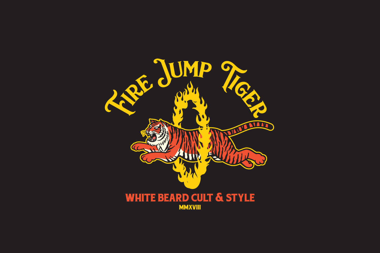 Fire Jump Tiger Logo Template example image 4