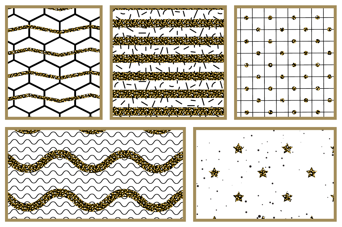 Abstract Glitter Seamless Patterns example image 4