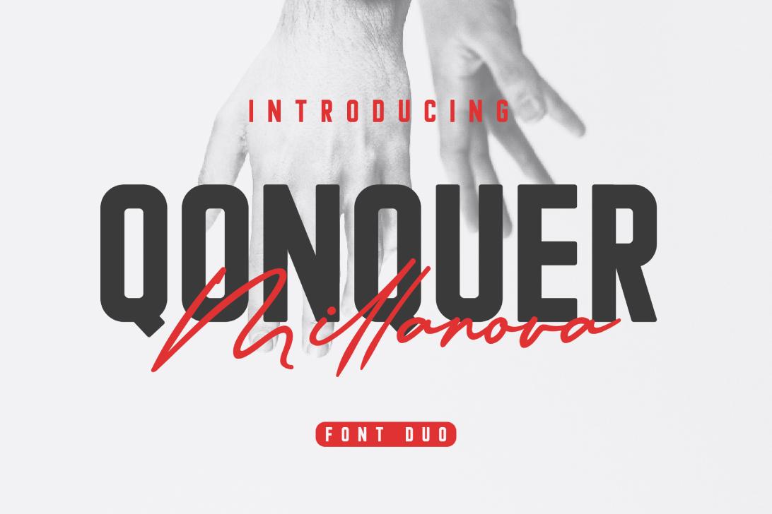 Qonquer Millanova | Font Duo example image 1