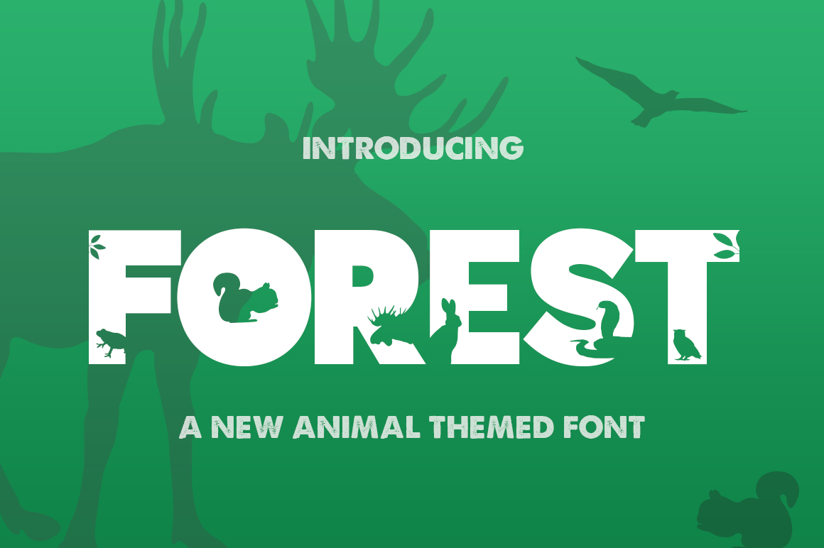 The Forest Font example image 1