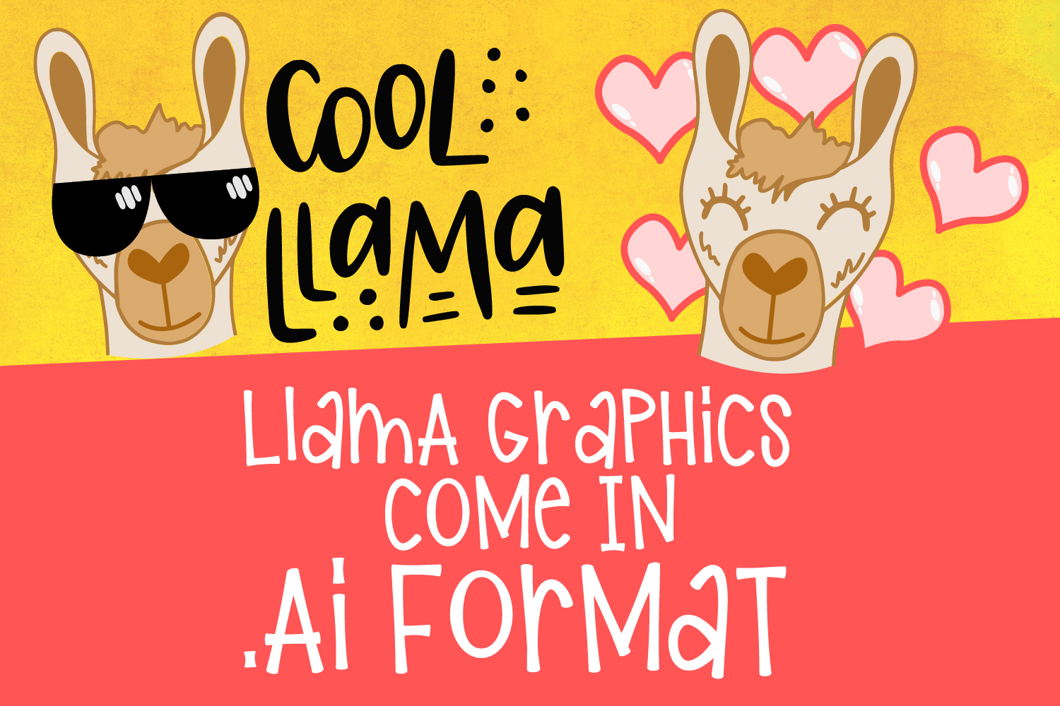 Girl Llama - Font Duo With Extras example image 8