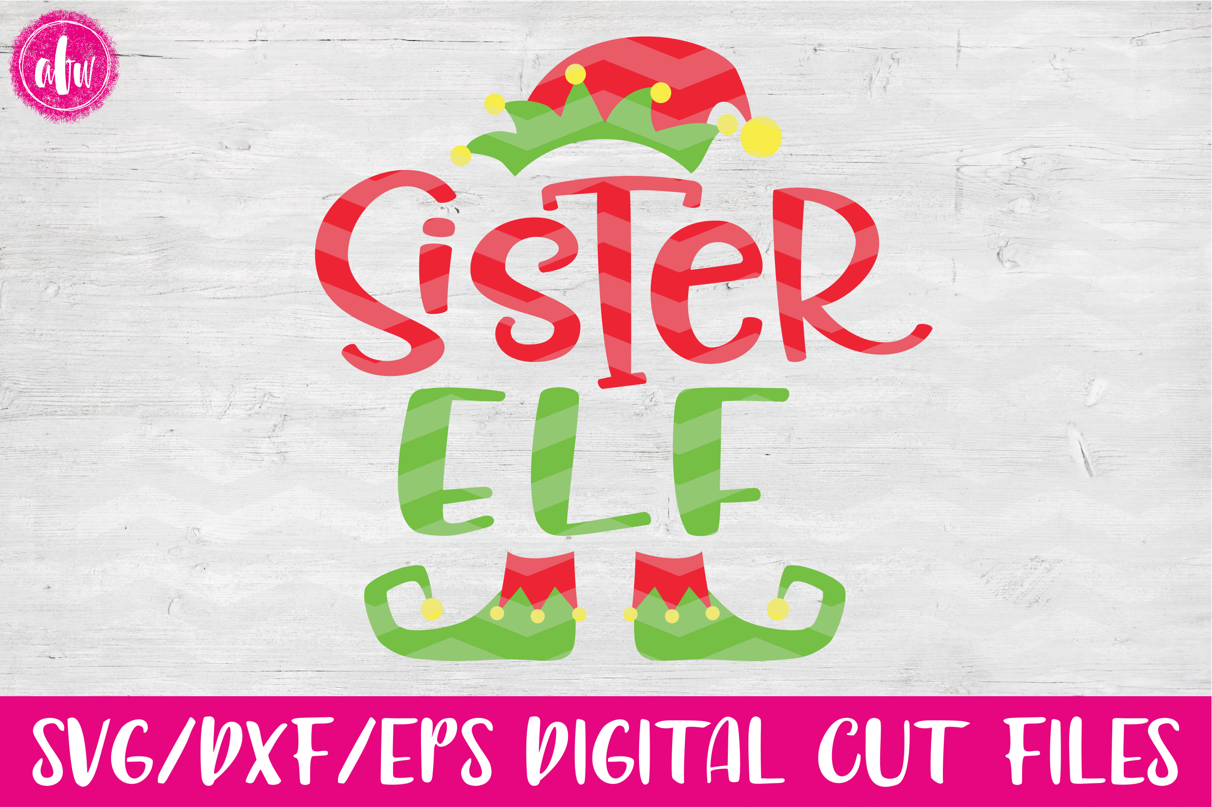 Sister Elf - SVG, DXF, EPS Cut Files example image 1