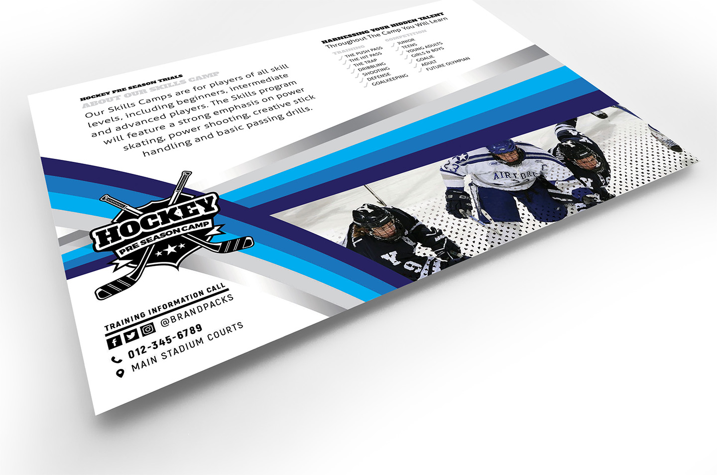 Hockey Club Flyer Template example image 4