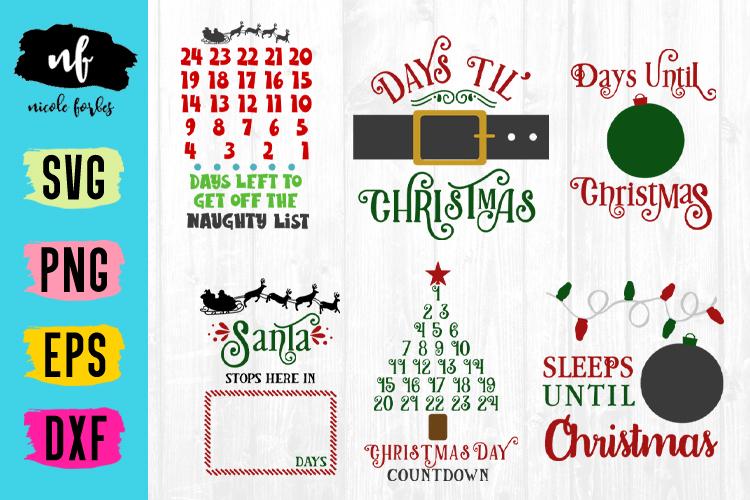 Christmas Countdown SVG Bundle example image 1