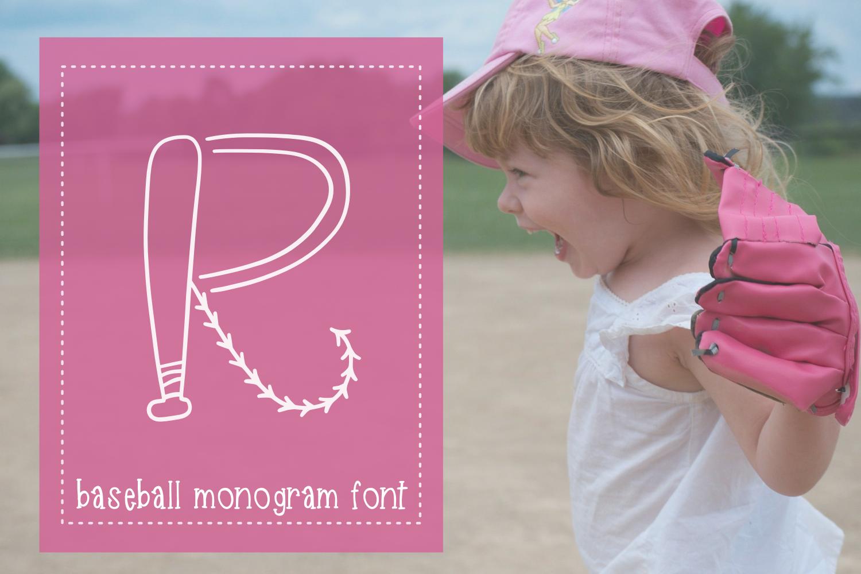 Baseball Monogram Font example image 2