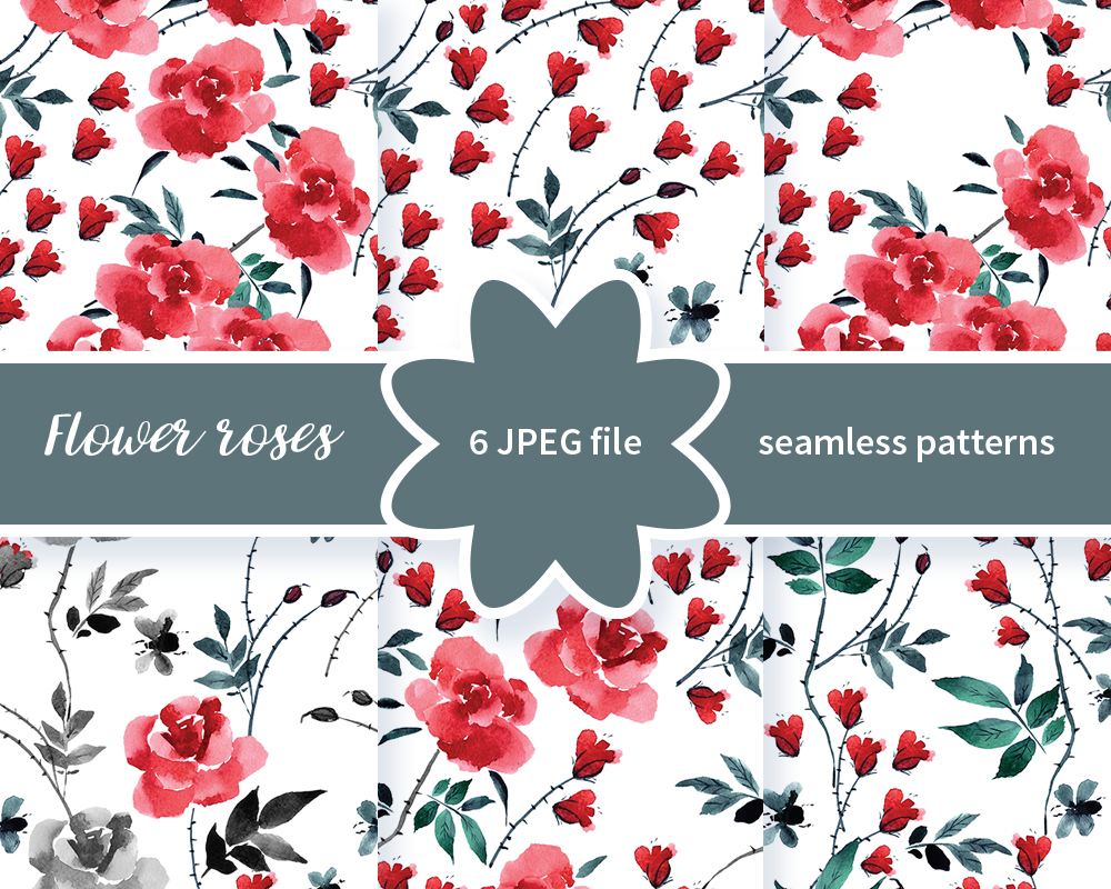 Seamless Patterns With Roses Chinese Art