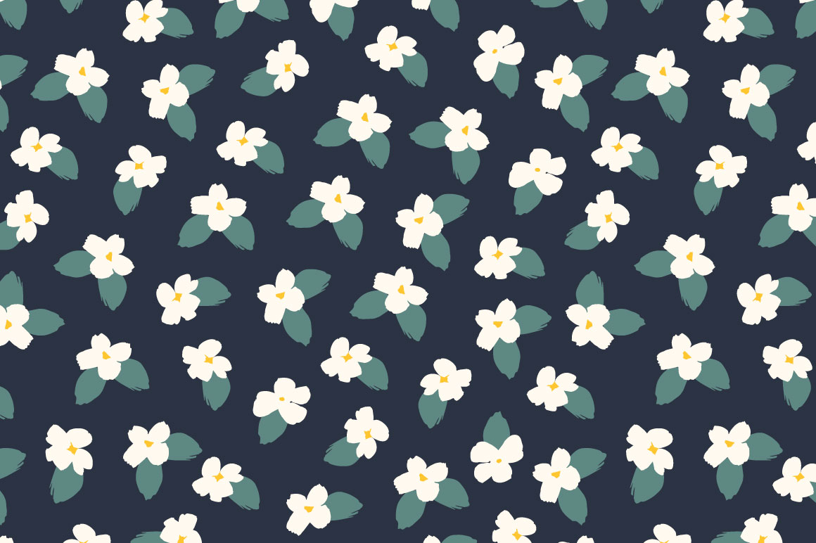 Cute flowers. 10 seamless patterns. example image 5