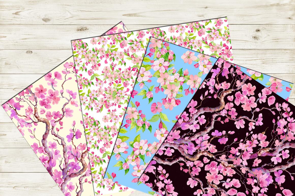 Sakura .seamless pattern.floral pattern example image 2