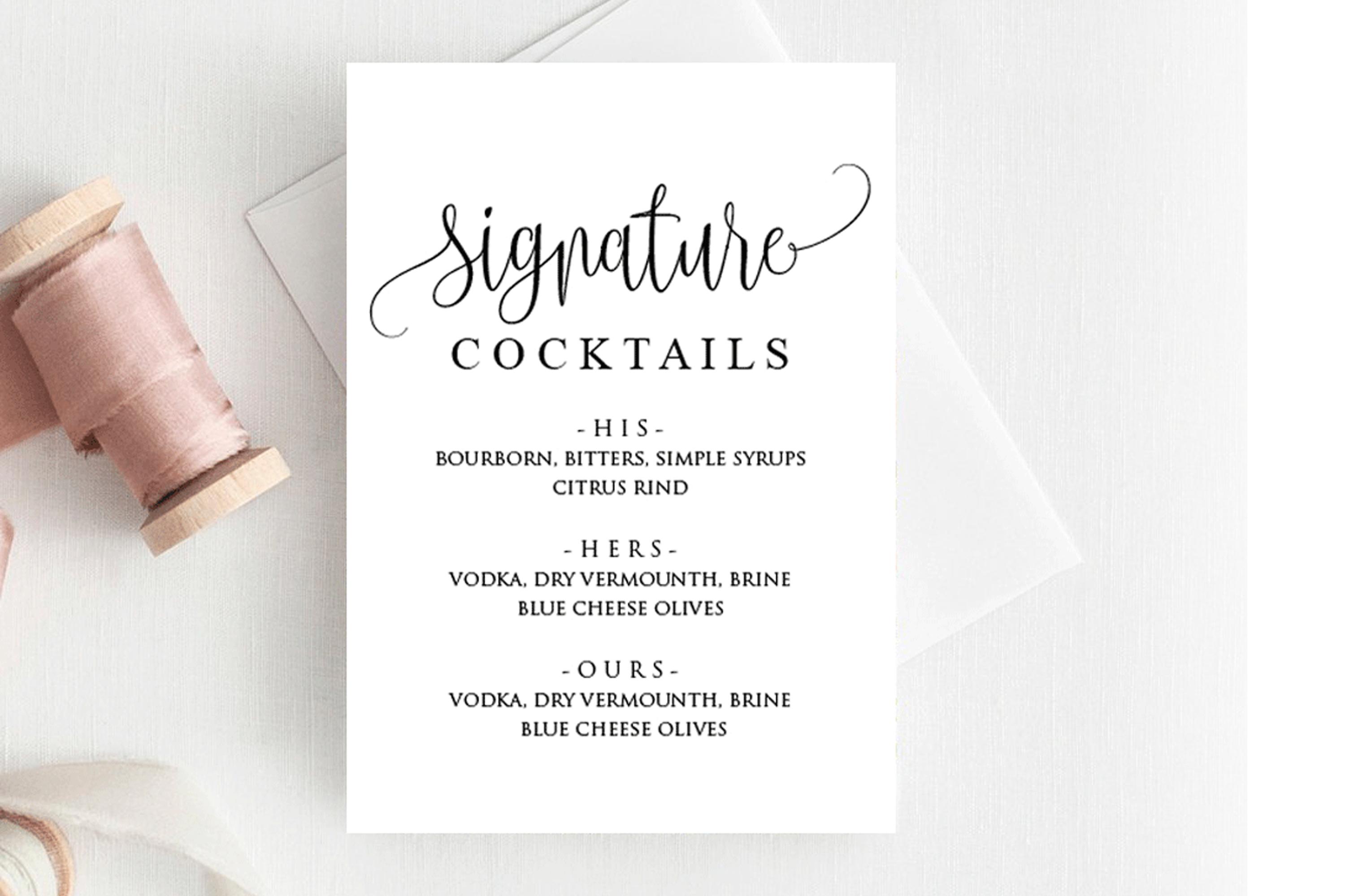 Signature Cocktail Sign Wedding example image 1