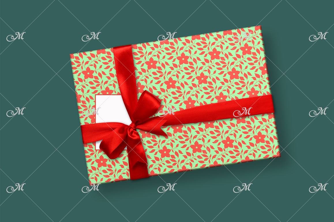 Smart Gift Box Mockup. Top view example image 3