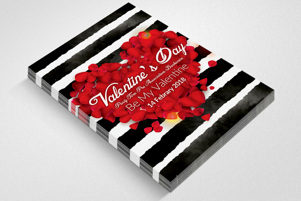 Valentine's Day Flyer Template example image 2