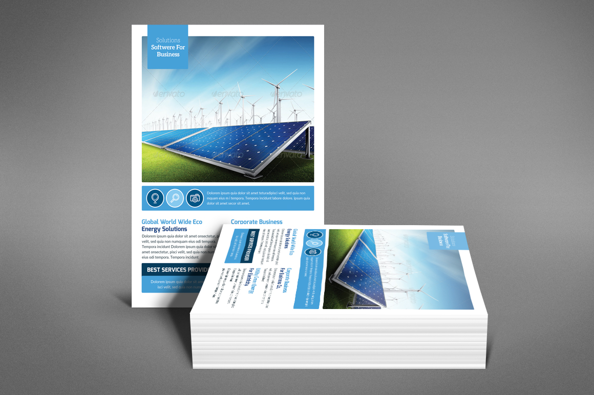 Green Energy Flyer Psd example image 4