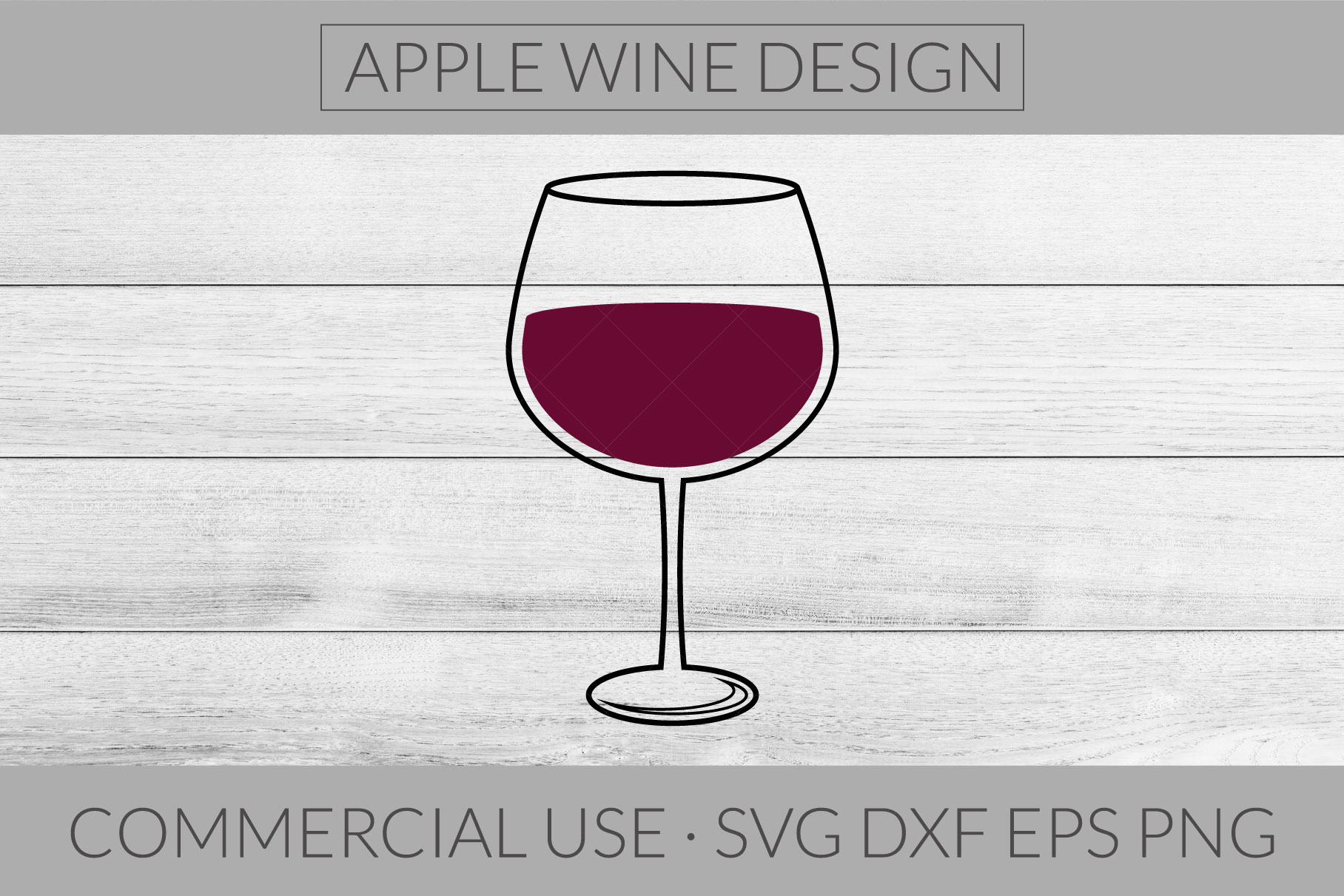 Wine Glass SVG DXF PNG EPS Cutting File example image 1