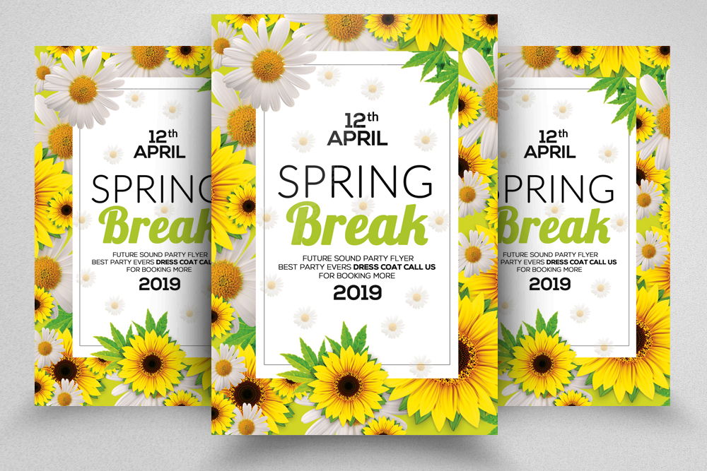 Spring Break Flyer Template example image 1