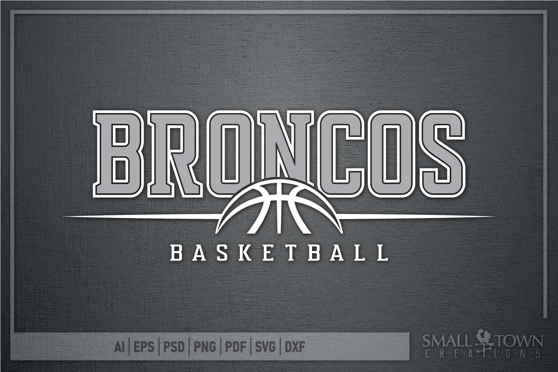 Bronco Basketball Logo, Team, Sports, PRINT, CUT & DESIGN example image 5