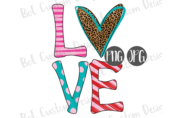 Heart Love Valentine Drawn Clipart example image 1