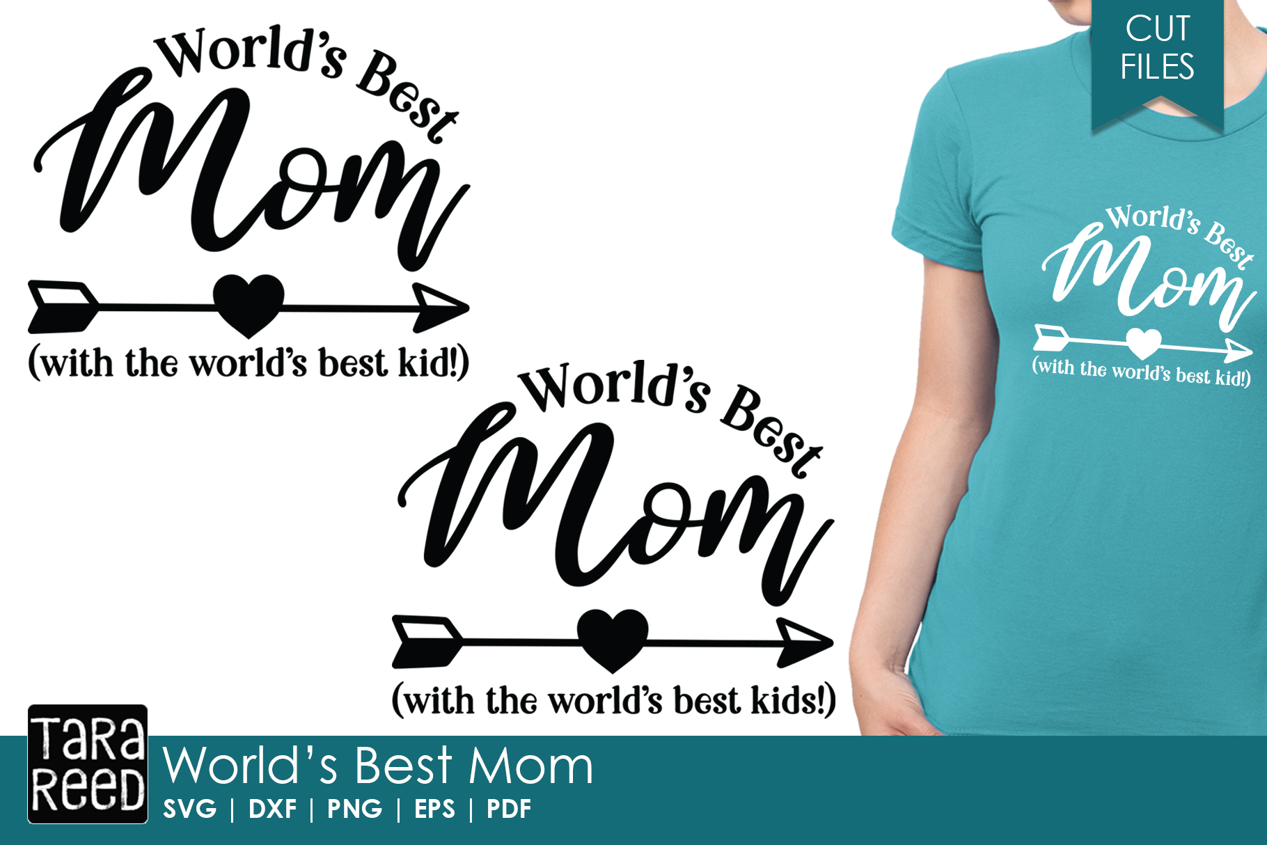 Worlds Best Mom - Family SVG and Cut Files for Crafters example image 1