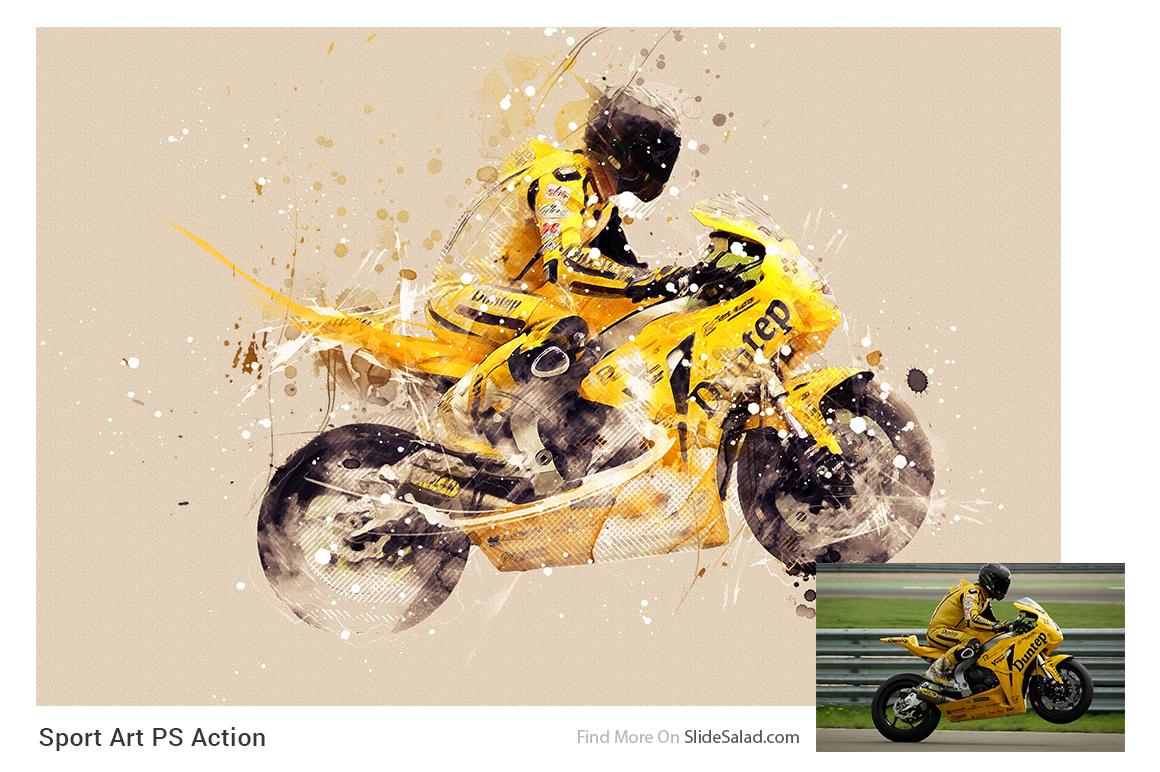 Sports Modern Art Photoshop Action example image 18