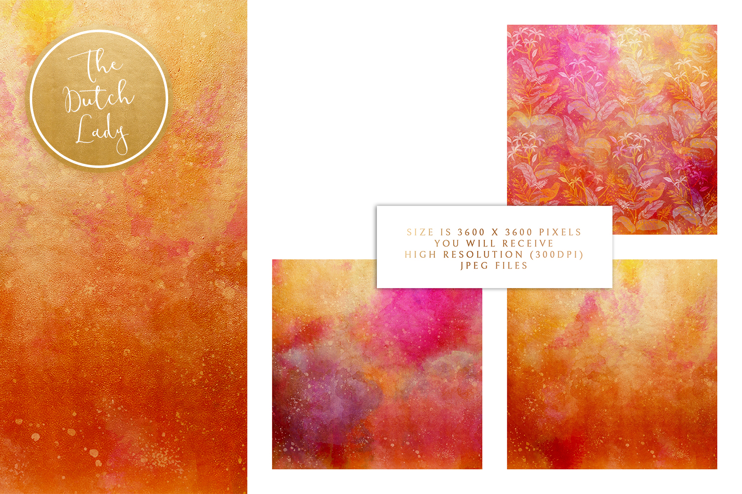 Floral Backgrounds & Paper Designs - Audrey example image 3