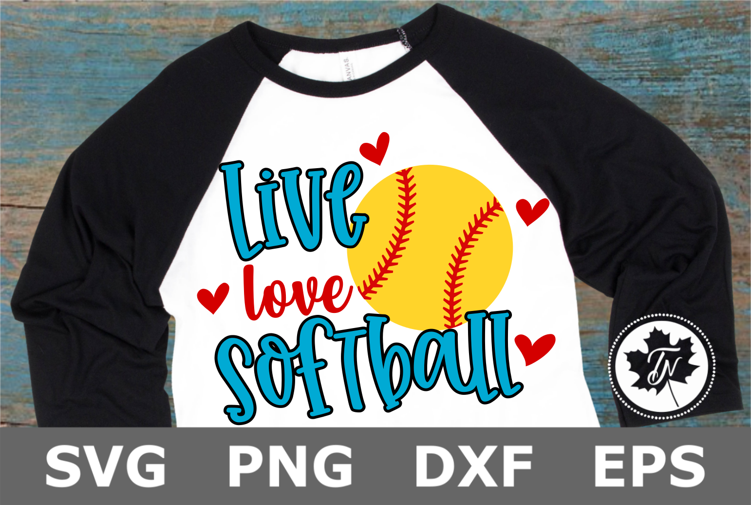 Live Love Softball- A Sports SVG Cut File example image 2