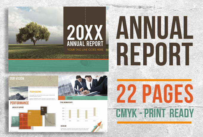 22 Page Corporate Annual Report Brochure Booklet example image 1