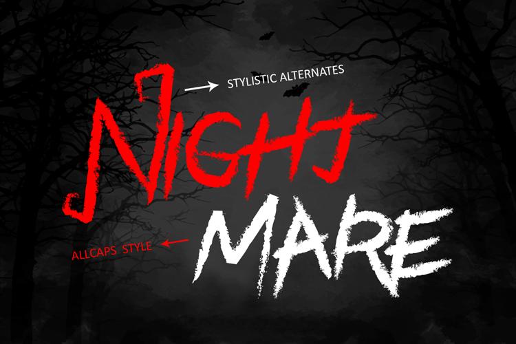 Black Halloween - Spooky Font example image 2