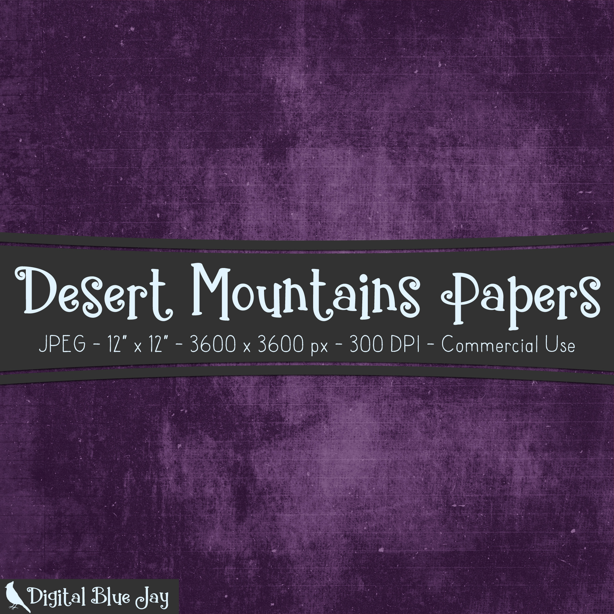 Digital Paper Textured Backgrounds - Desert Mountains example image 2