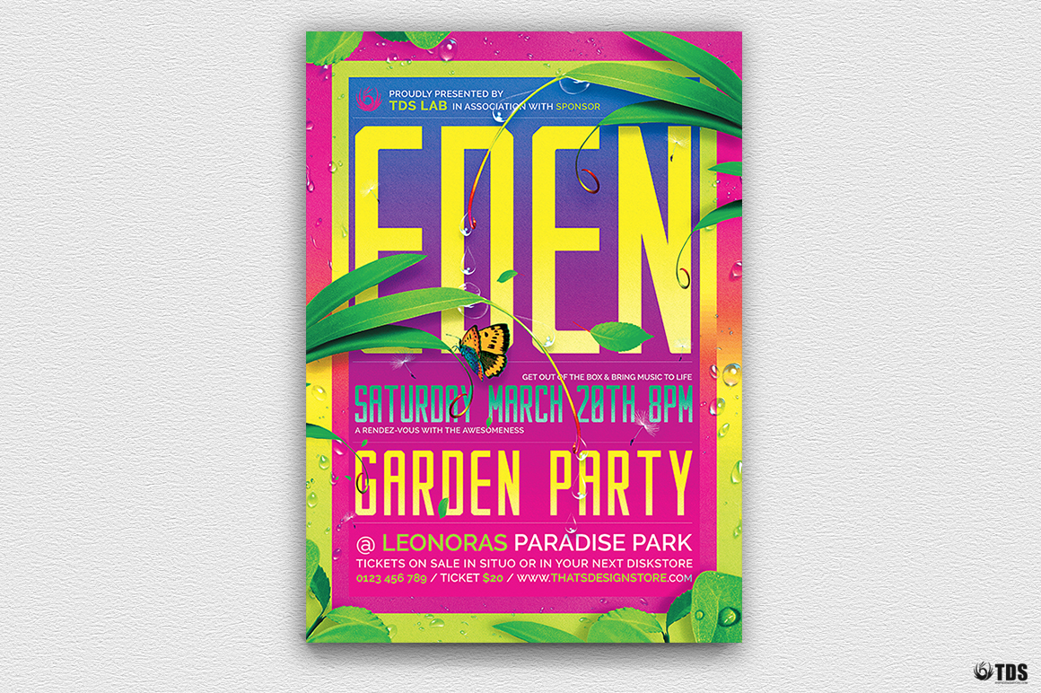 Garden Party Flyer Template example image 2