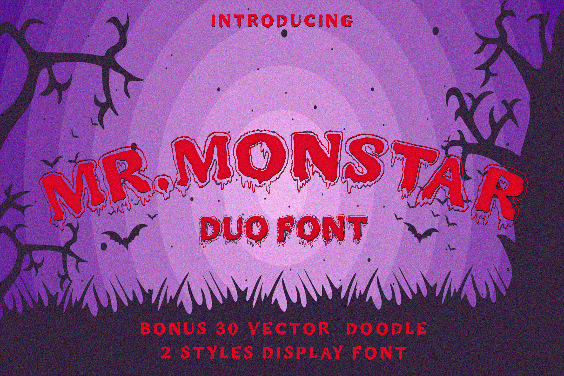 MR.MONSTAR Duo Font & Extras example image 10
