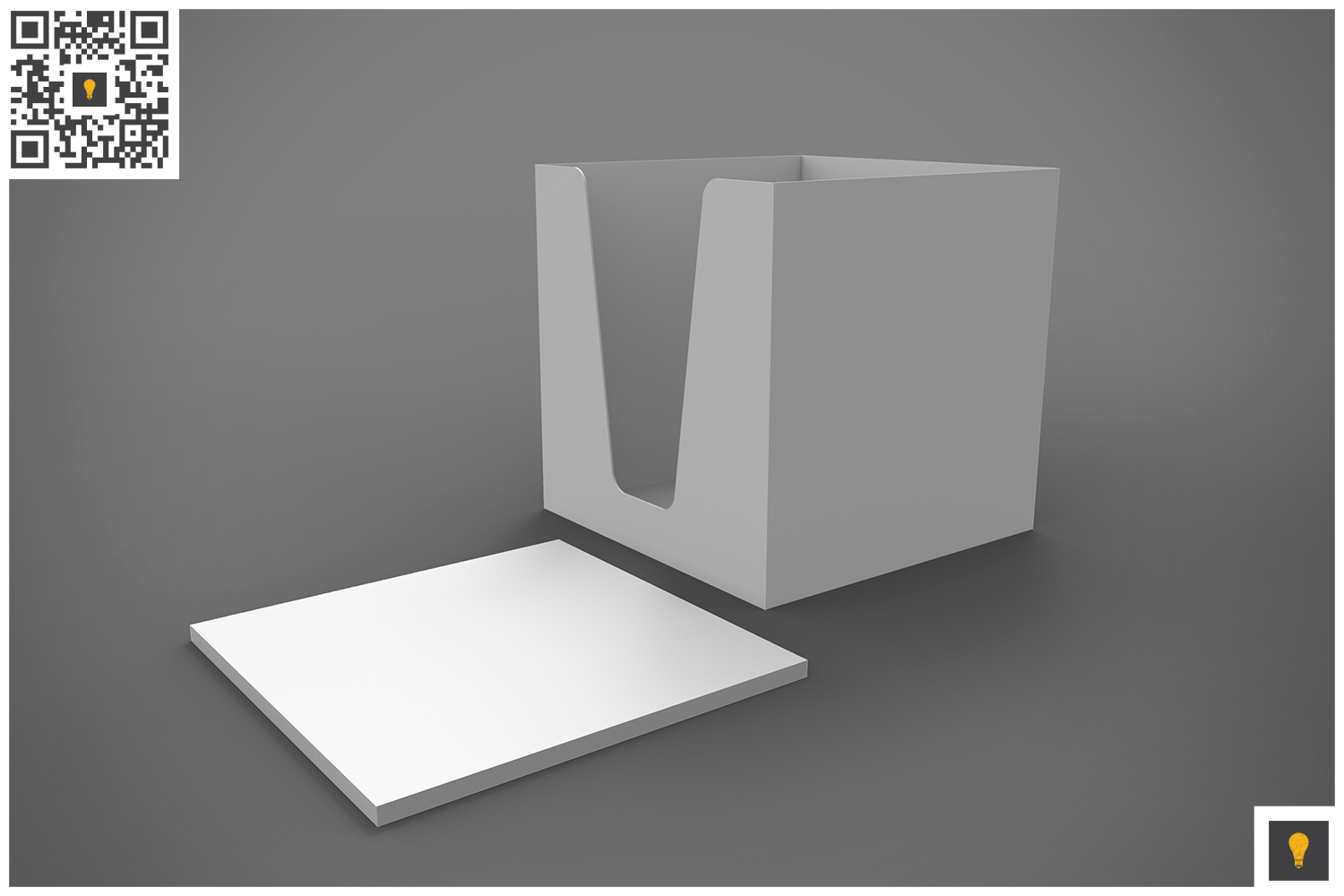 Notepad Holder & Notes 3D Render example image 6