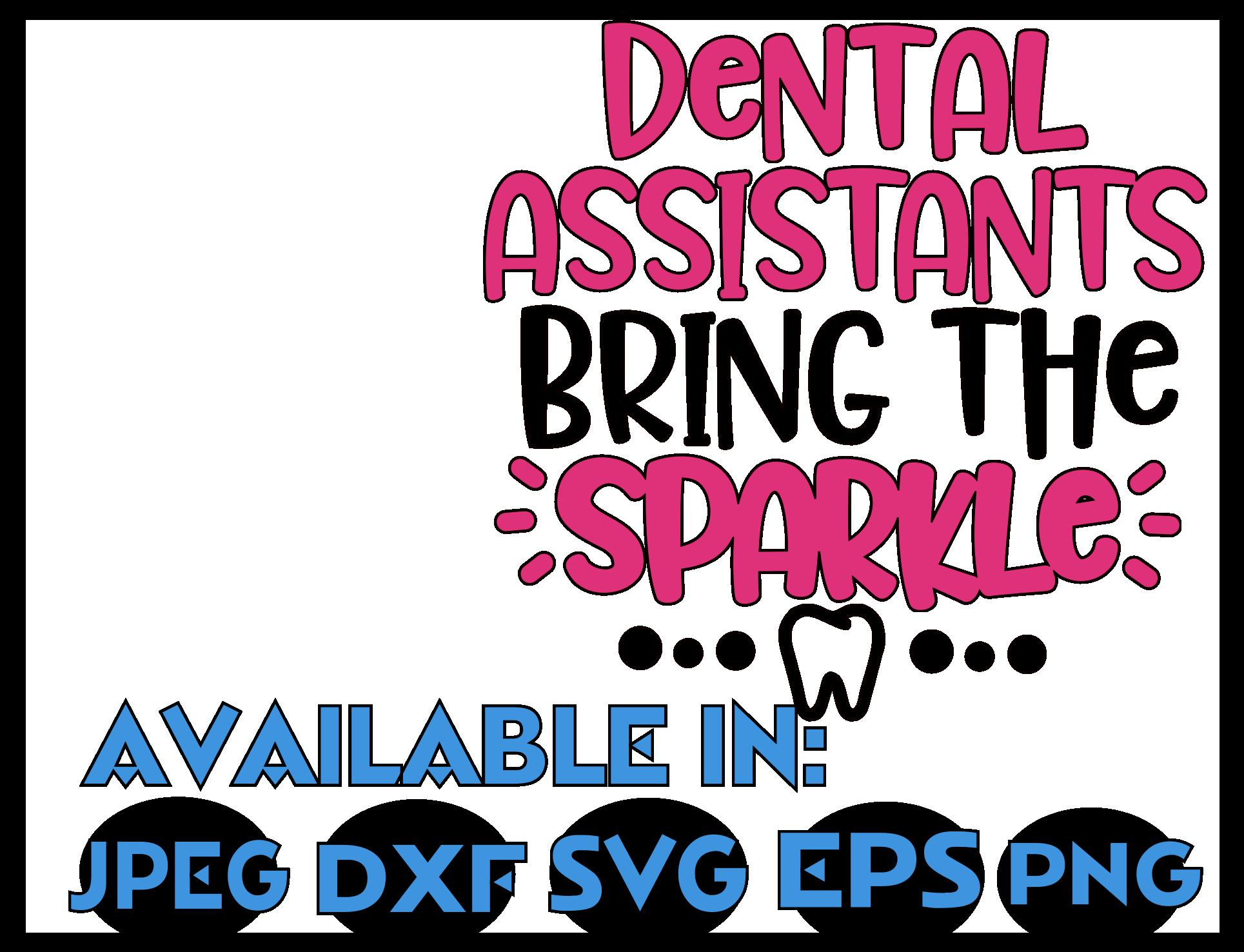 Dental Assistant SVG DXF JPEG Silhouette Cameo Cricut teeth example image 3