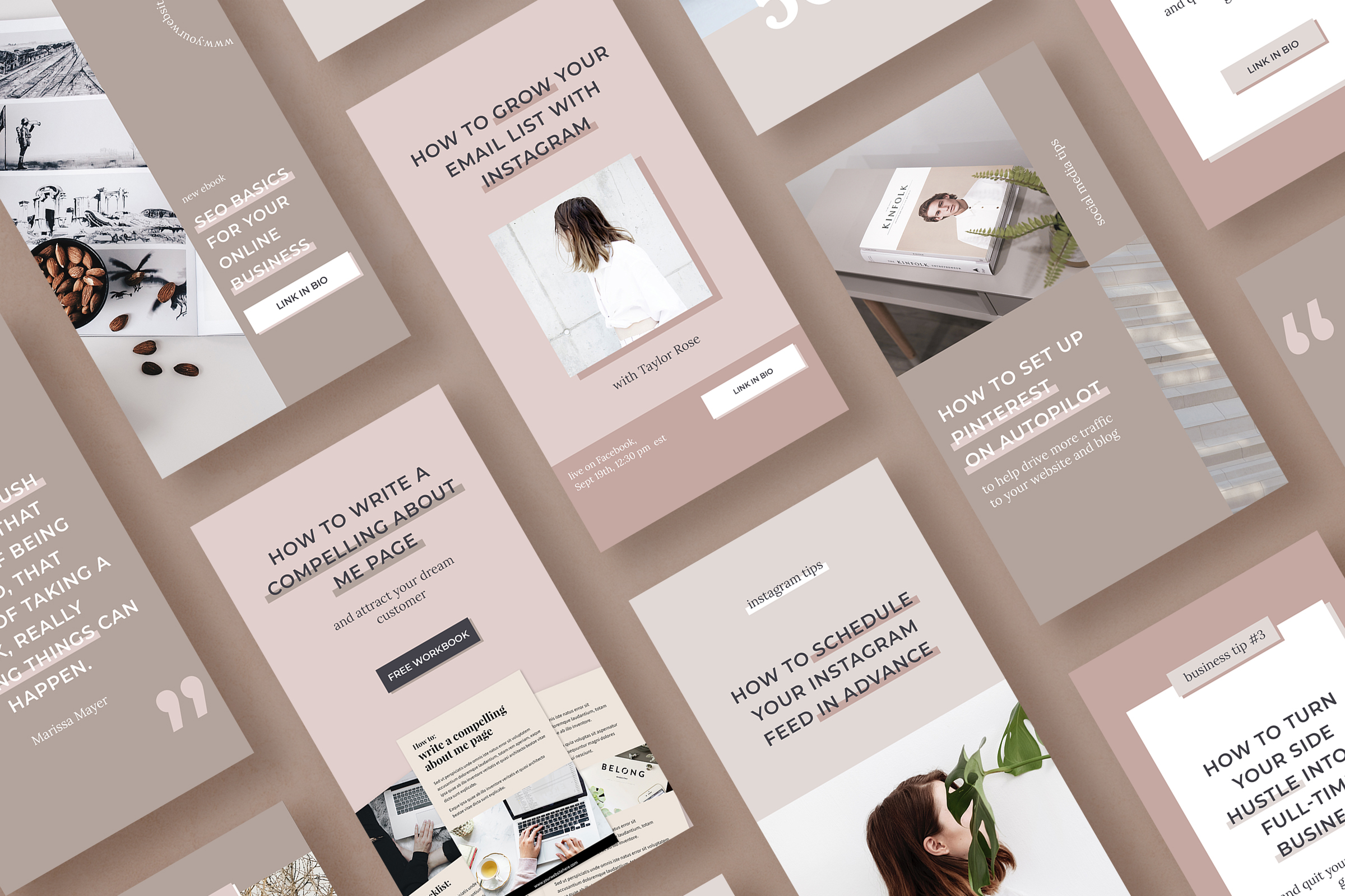 Instagram stories template pack for bloggers example image 2