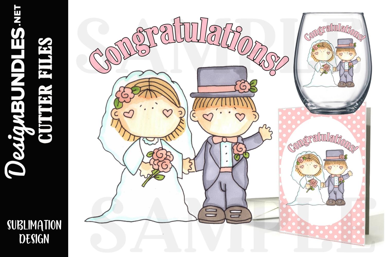 Wedding Day Sublimation Design example image 1