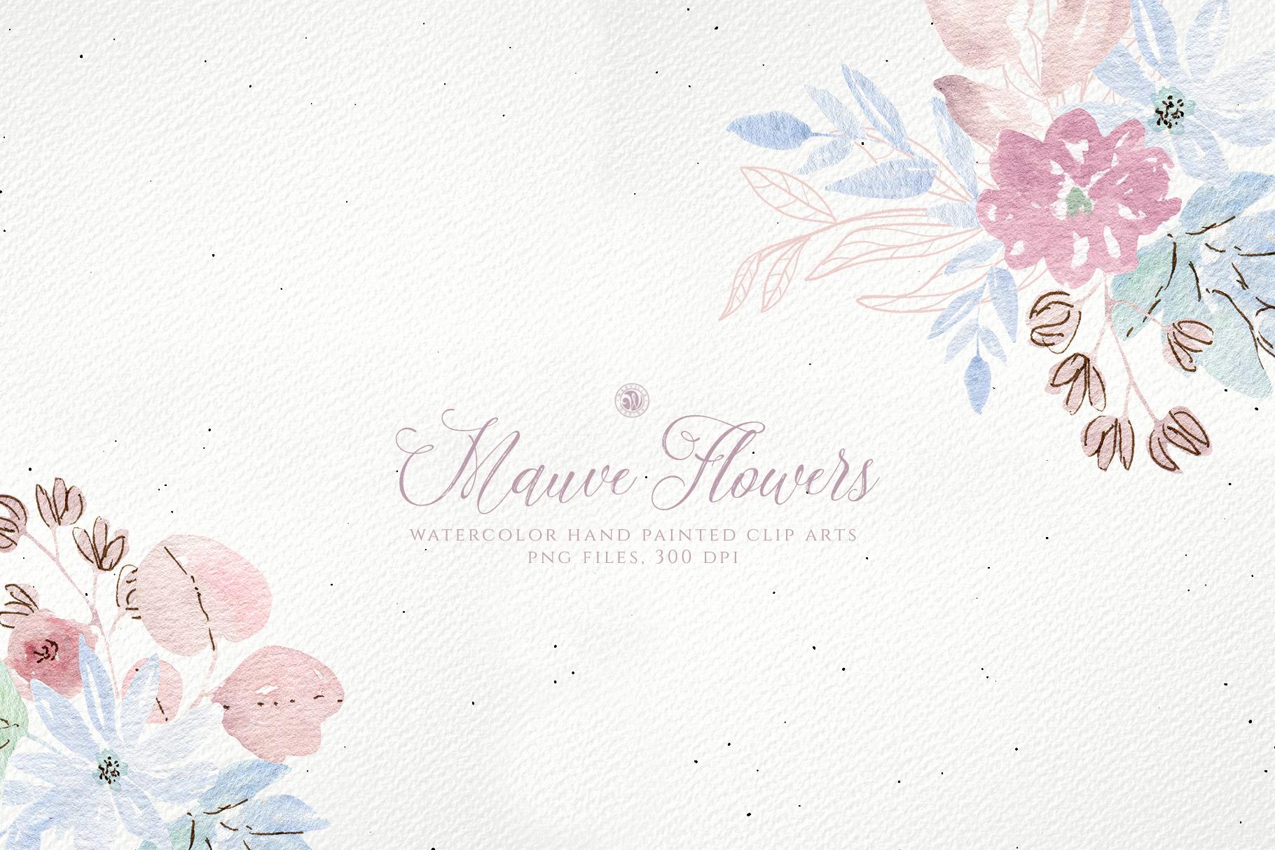 Mauve Flowers example image 3