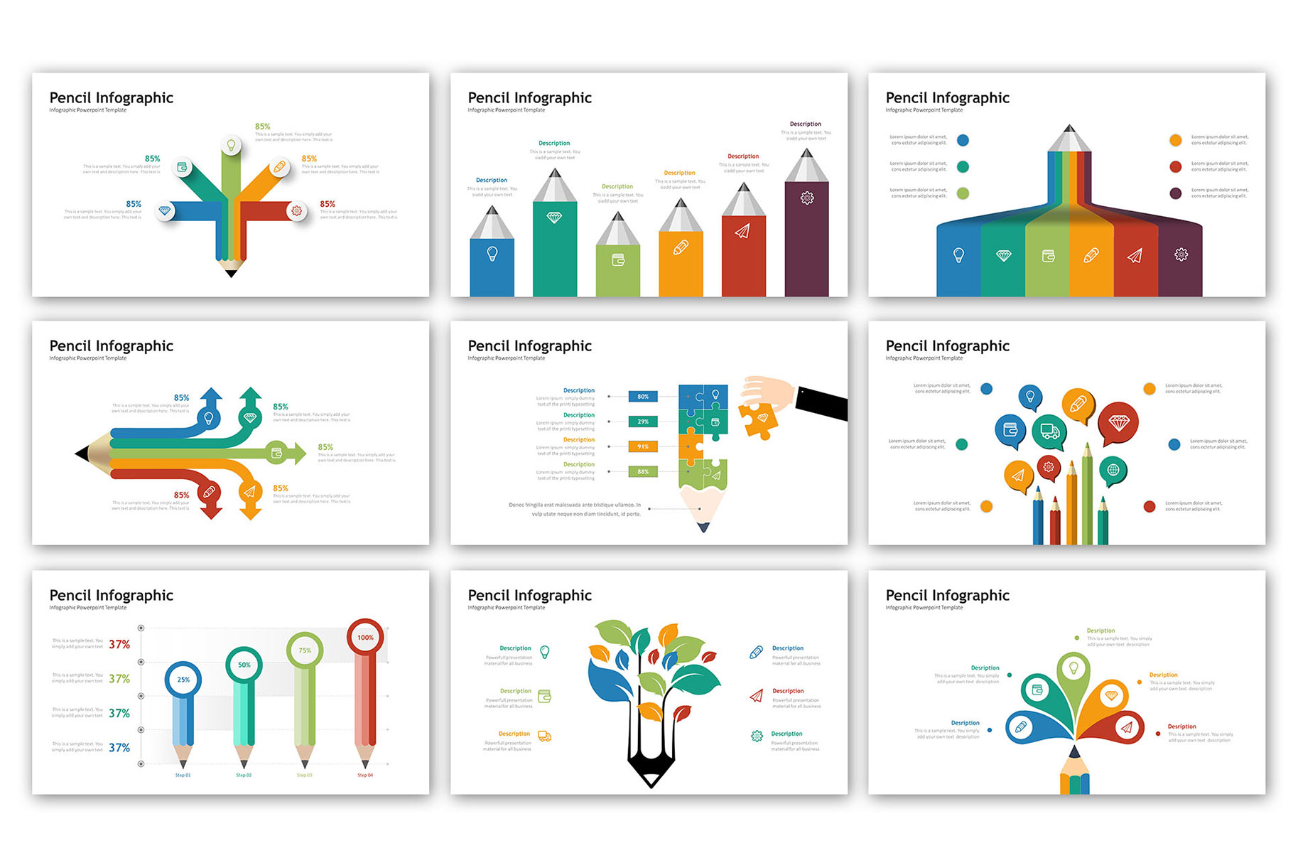 Pencil Presentation - Infographic Template example image 3