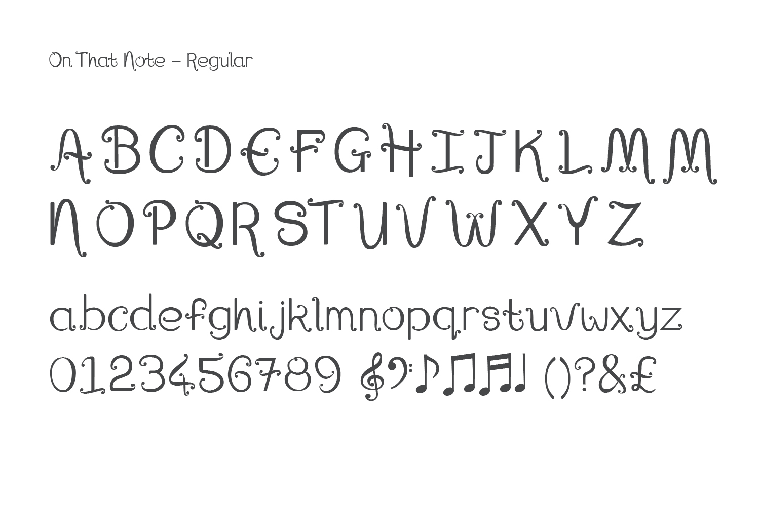 Font, On That Note example image 8