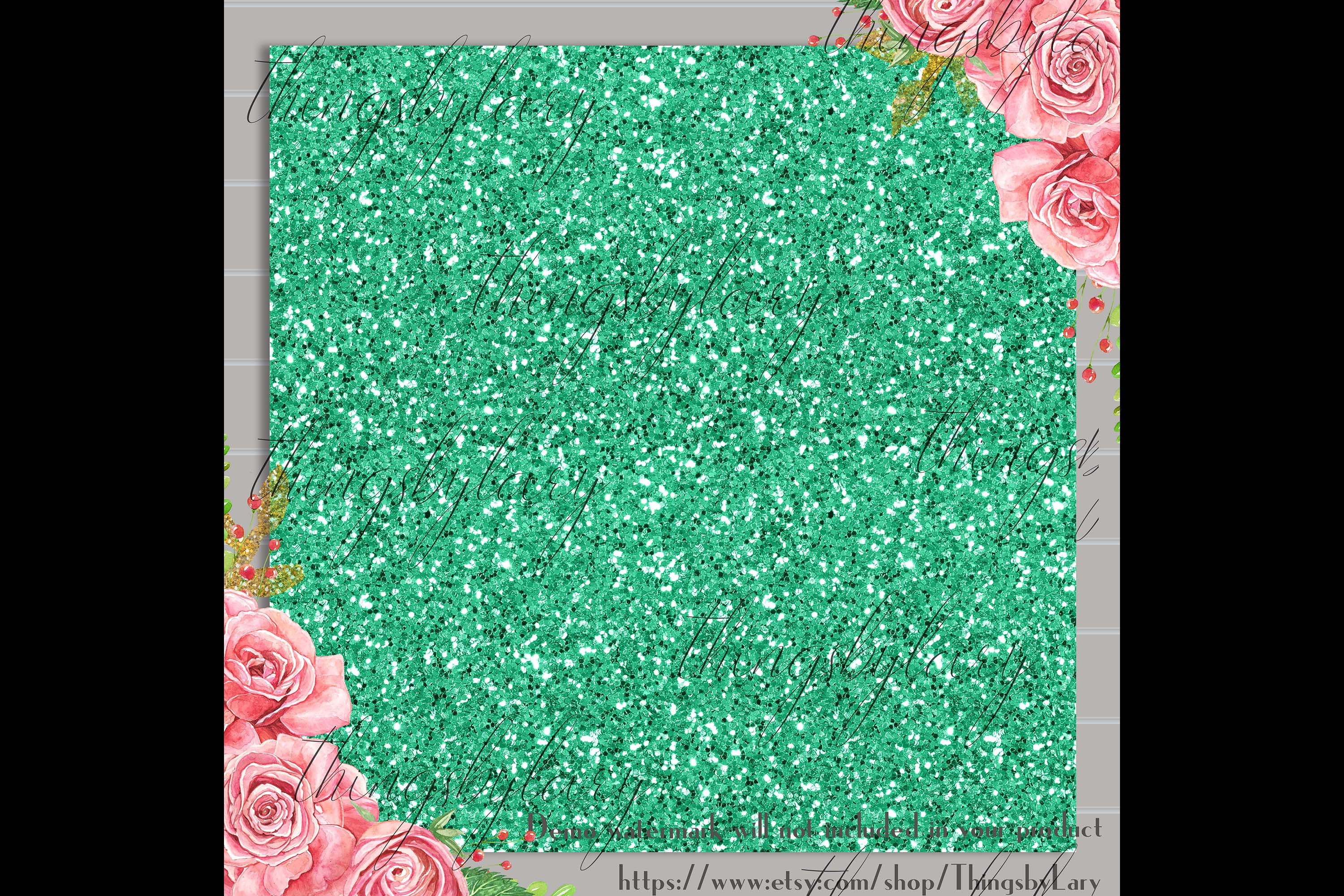 24 Luxury Saint Patrick's Day Digital Papers Glitter Sequin example image 4