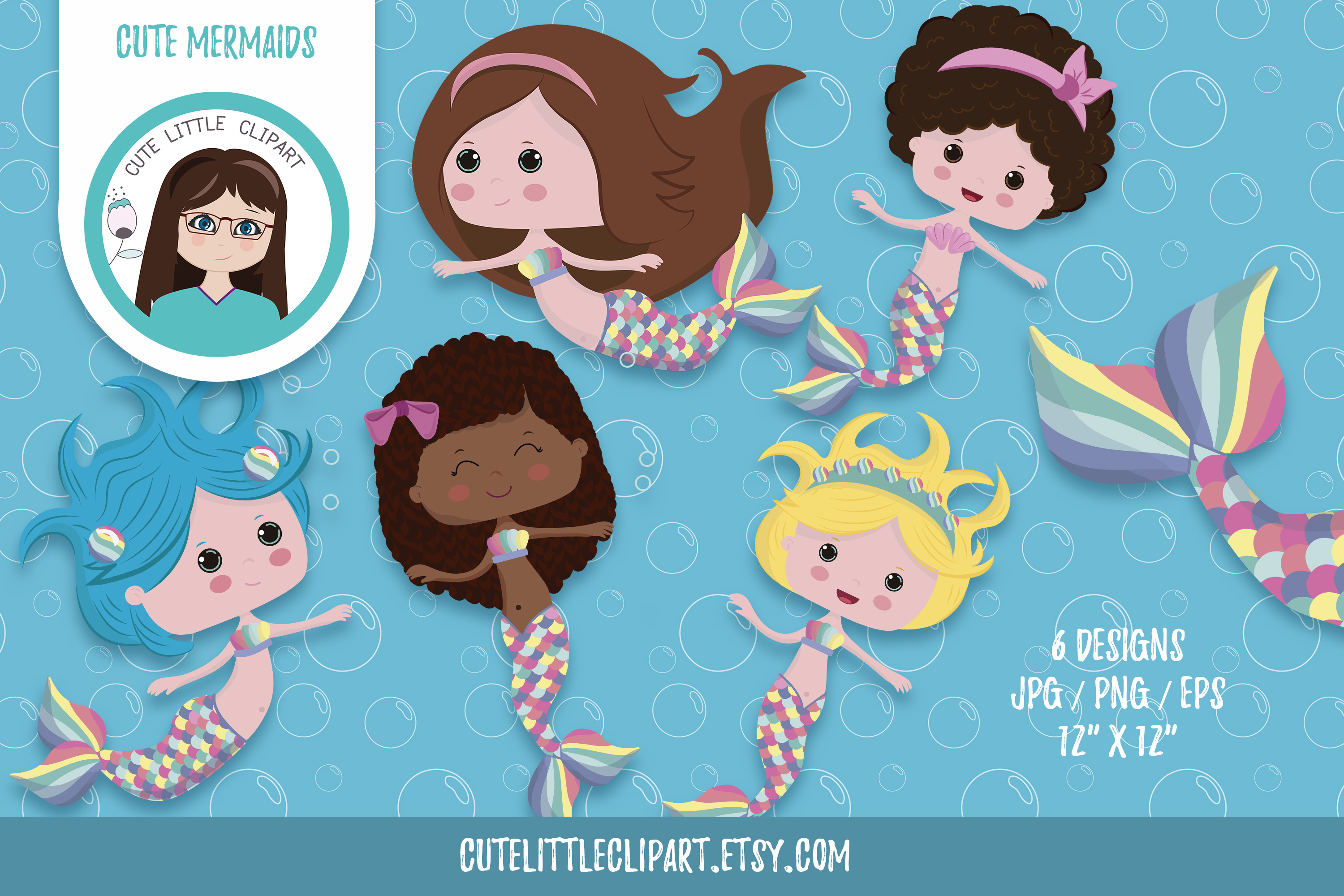 Little mermaid cliparts example image 1