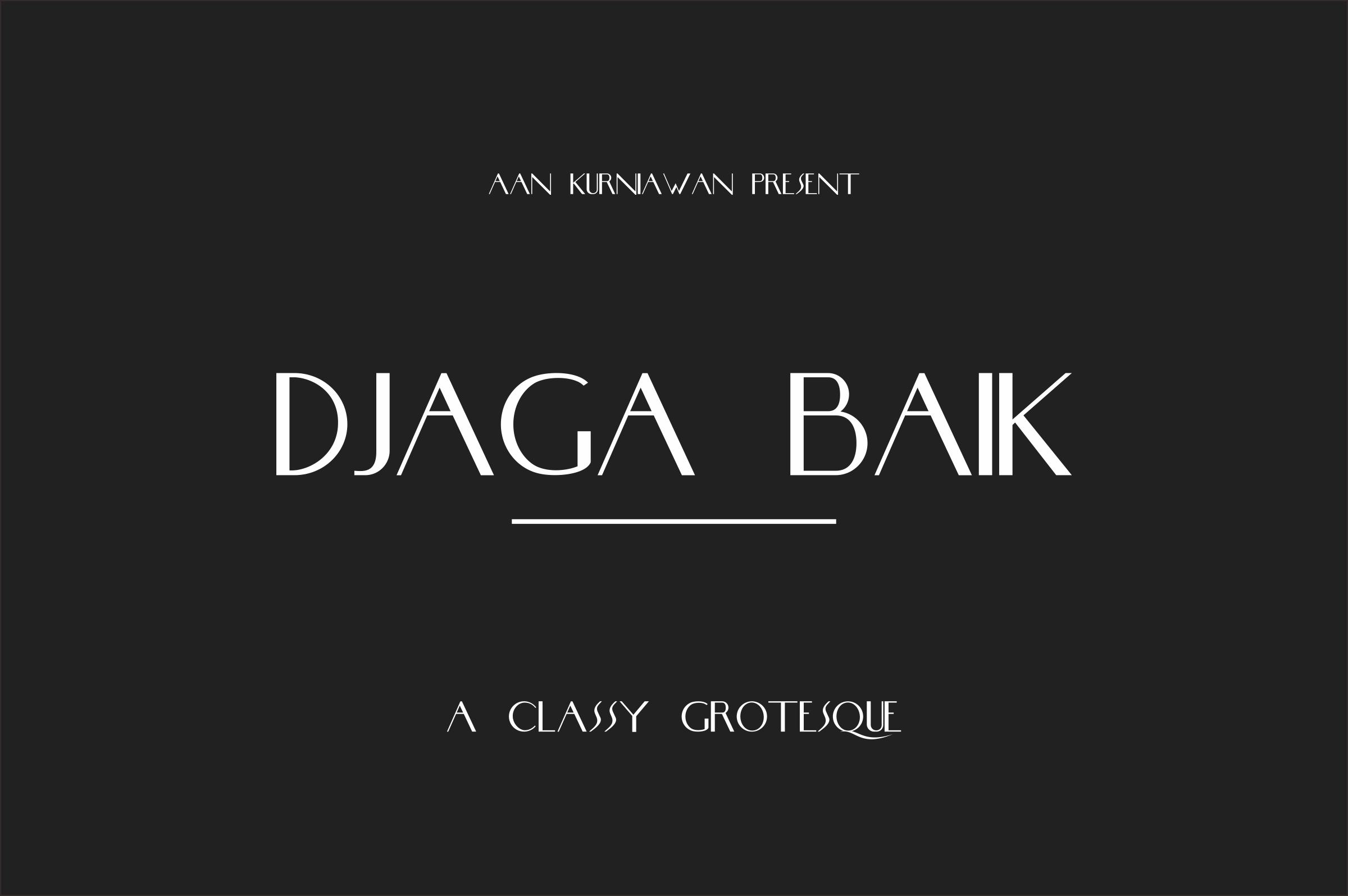 DJaga Baik (A classy Grotesque Sans) example image 1